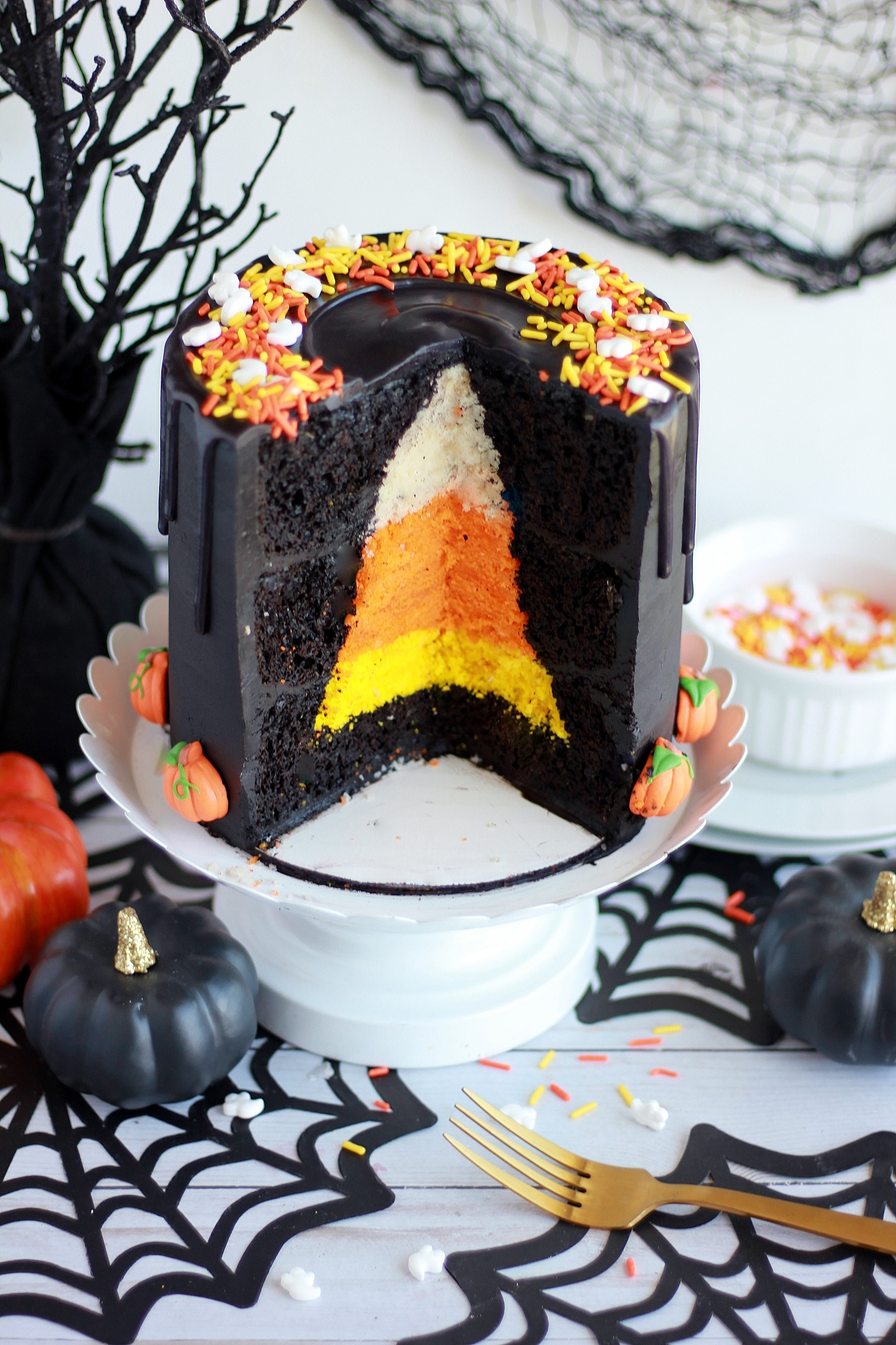 Halloween Candy Corn Cake Baking With Blondie